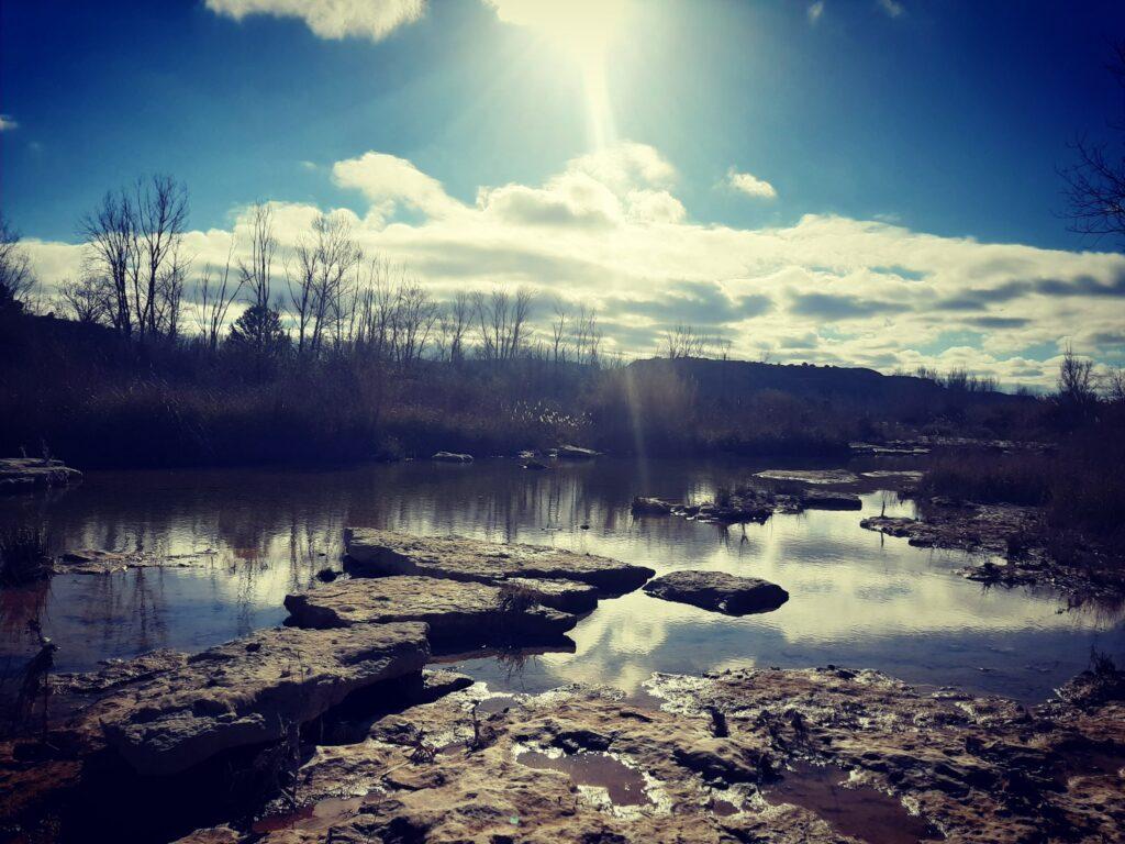 Il fiume Matarranya d'inverno